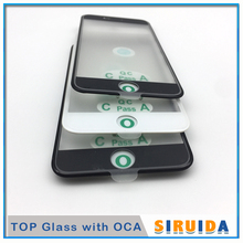 10 sztuk Top Cold Press 3 w 1 LCD przedni ekran szklany z ramką OCA klej + ucho mówić siatki dla iphone 8 7 6 6s plus 5 5s XR naprawy