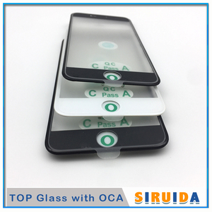 10pcs Top Cold Press 3 in 1 LCD Front Screen Glass With Frame OCA Glue + Ear Speak Mesh For iphone 8 7 6 6s plus 5 5s XR Repair(China)