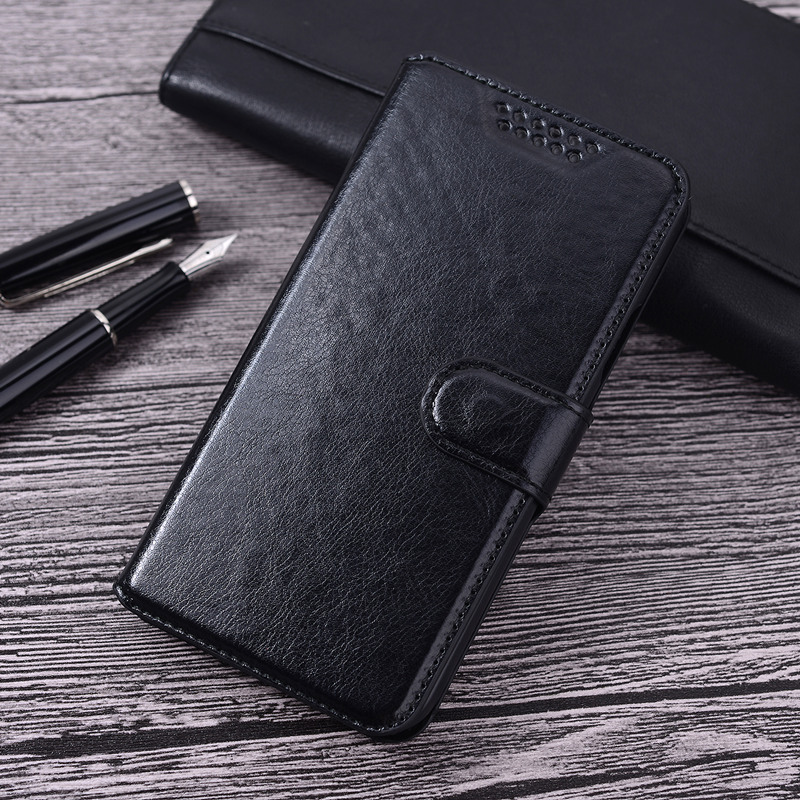 Luxury Flip Leather Fundas Phone Back Cover For <font><b>Alcatel</b></font> One Touch POP 4 Plus <font><b>5056D</b></font> 5.5 inch For <font><b>Alcatel</b></font> Pop 4+ 5056 Case image