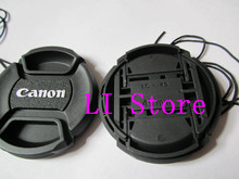 1pcs/lot 49mm center pinch Snap-on cap cover LOGO for canon 49mm camera Lens free shipping