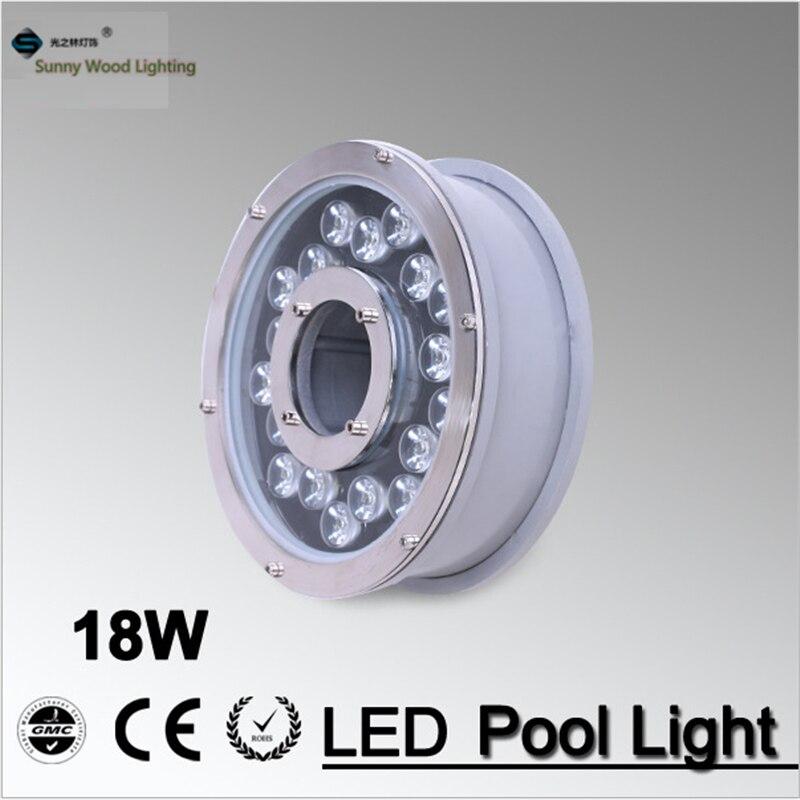12VAC 6W 9W 12W 18W LED landscape fountain light IP68 swimming pool light 45 degree brigelux
