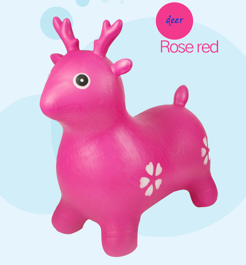 Children's inflatable Ma Baobao music toy horse jumping horse 2-3-4-5-6-7 old baby seat horse nibbles page 5