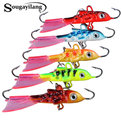 Sougayilang 5PC 12G/5.5CM Ice Fishing Lures Winter Bait Hard Lure Balancer for Fishing Baits Lead Jigging