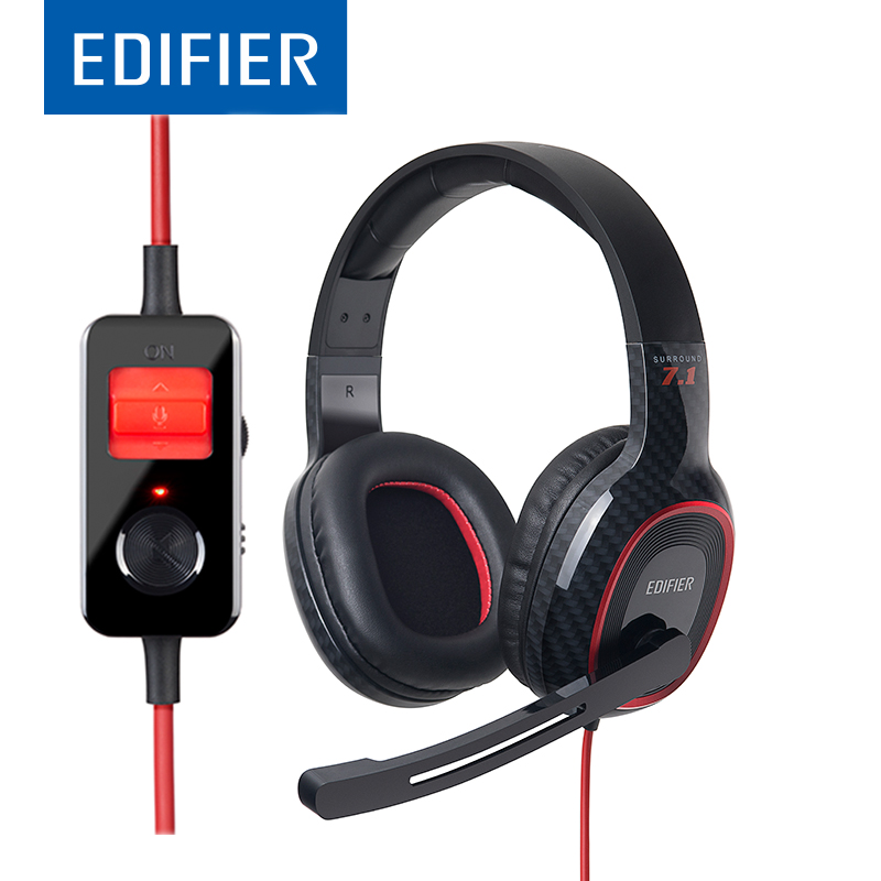 EDIFIER G20 Gaming Headphone 7.1 Virtual Surround Sound Over-Ear Retractable Headset Vibration Effect With Mic Line Control складной нож spyderco alcione grey cts bd1 g10