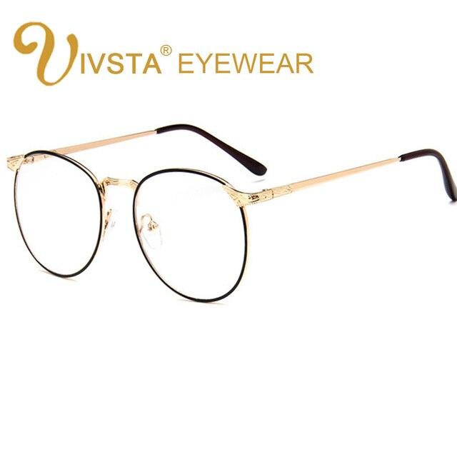 56e7714ff49054 IVSTA Oversized Bril Mannen Mode Grote grote Gouden Metalen Optische Frame  Graden Recept Lenzen Bijziendheid Ronde