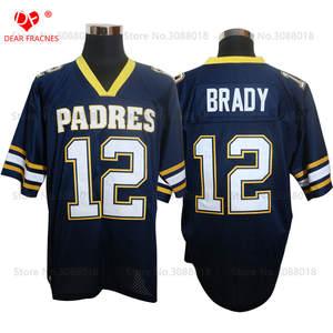 Brady Shirt for Mens American Football Jerseys Tom High School Throwback  Jerseys acf754c3d