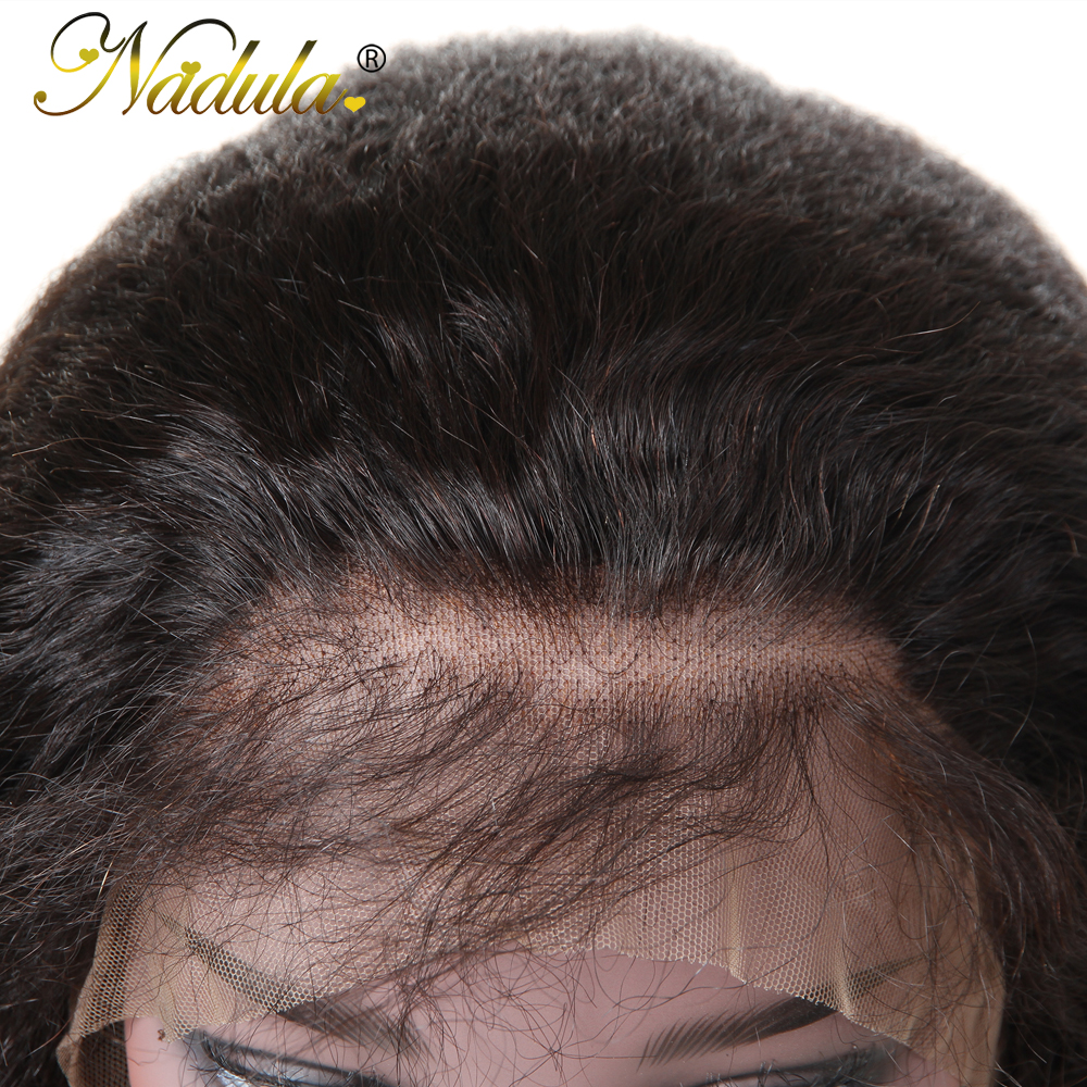 Nadula Hair 13x4/13x6 Lace Wig  Wigs With Lace Front    Hair Kinky Straight Wig With Baby Hair 4