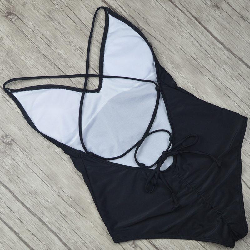 2019 Sexy One Piece Swimsuit Women Swimwear  (3)