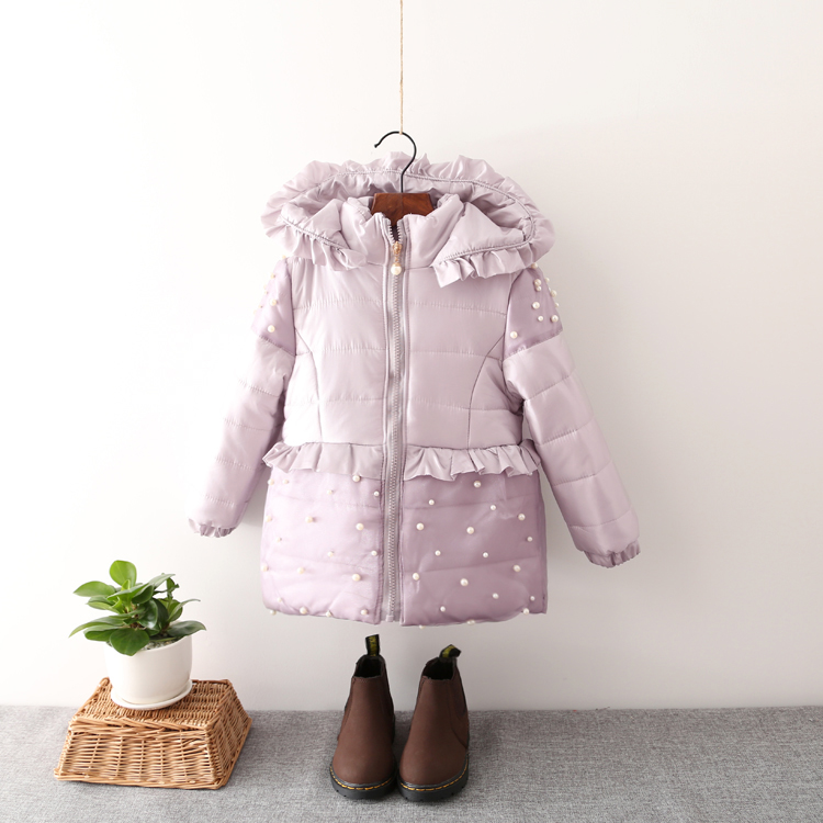 2016 Sale Cotton None Fashion Girls Corduroy Solid Long Zipper Hooded 50% Grey Duck Fits True To Size, Take Your No