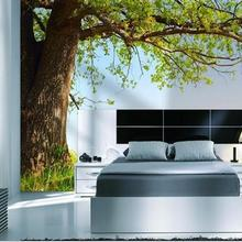 Murals Wallpaper Paintings Custom Landscape Green-Trees Chinese-Style 3d Tv-Setting-Wall-Is