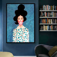 Nordic Modern Figure Characters Watercolor Colorful Canvas Painting Poster Print Decor Wall Art Pictures For Living Room Bedroom