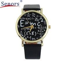Reloj 2017 New Arriveal Bestselling Luxurious Womens Math Symbols Fake Leather-based Analog Quartz Watch 17feb21