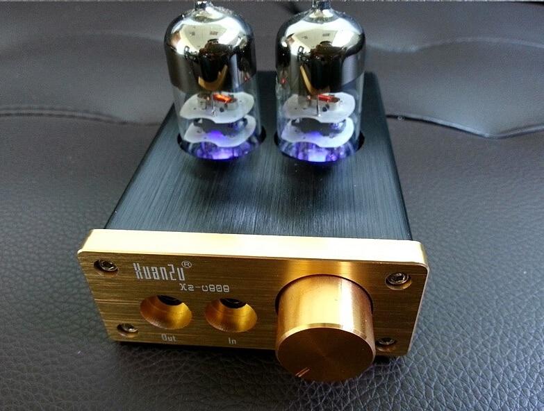 6J9 Vacuum Tube Integrated Amplifier Mini Audio HiFi Stereo Headphone amp DIY 1pcs high quality little bear p5 stereo vacuum tube preamplifier audio hifi buffer pre amp diy new
