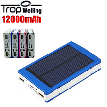 Tropweiling bank power 12000mah mobile power bank portable external battery poverbank for phones usb portable charger