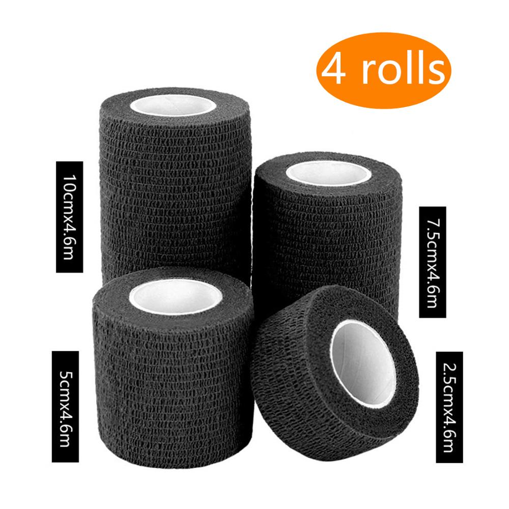 4 PCS/Set 2.5/5/7.5/10 Cm Sports Elastoplast Cohesive Bandage Self Adherent Wrap Elastic Self Adhesive Waterproof Pet  Tapes