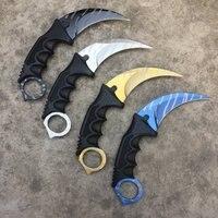 Hot! Handmade polowanie Karambit nóż CS GO nigdy nie znikną counter strike walki Survival nóż taktyczny pazur Camping noże narzędzia w Noże od Narzędzia na