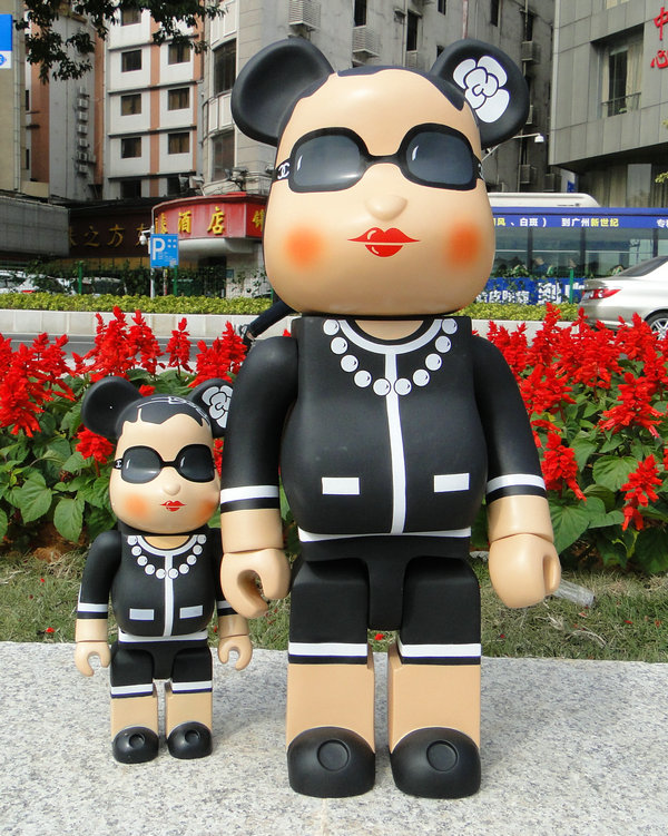 Hot Selling Oversize 700% bearbrick luxury Lady CH be@rbrick medicom toy 52cm new hot christmas gift 21inch 52cm bearbrick be rbrick fashion toy pvc action figure collectible model toy decoration