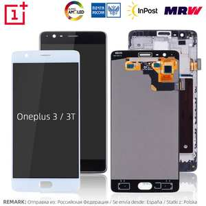 AMOLED Display For Oneplus 3 3 T LCD Touch Screen with Frame Replacement For Oneplus