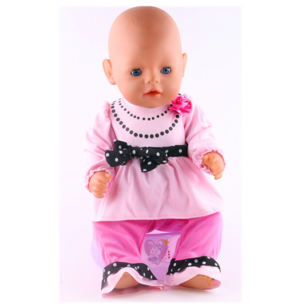 Pink Suit Wear fit 18 American Girl Doll,43cm Baby Born zapf, Children best Birthday Gift N235 5pice lot woody 5 different size hanger for 18inch american girl and doll and 43cm baby born zapf