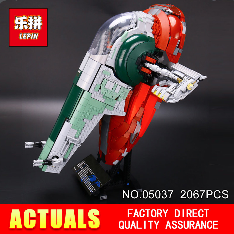 LEPIN 05037 Star Classic Series Wars Slave UCS I Slave NO.1 Model 2067Pcs Building Block Bricks Toys Compatible 75060 Boy Gifts