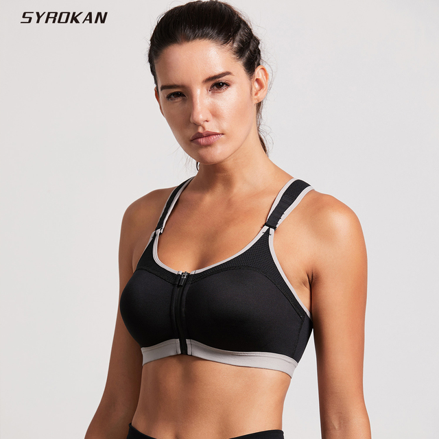 Front Closure Wirefree Workout Sports Bra Without Pads