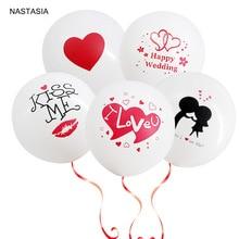 NASTASIA 10 шт./лот печать латексный воздушный шар в форме сердца 12 дюймов 2,8 г свадьба и День Святого Валентина Романтический воздушный шарик для украшения