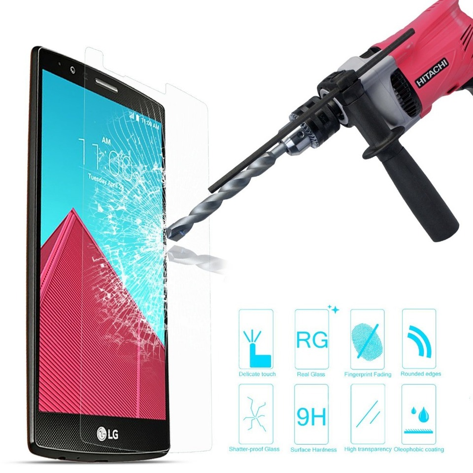 New Lipho Coated Tempered Glass Protector for LG G4 1PC Waterproof Guard 0.2
