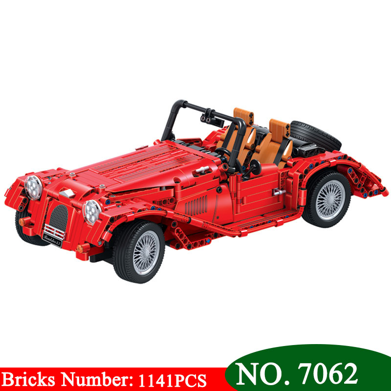 Winner 7062 1141PCS Technic red convertible car building blocks DIY Educational bricks toys for children Christmas