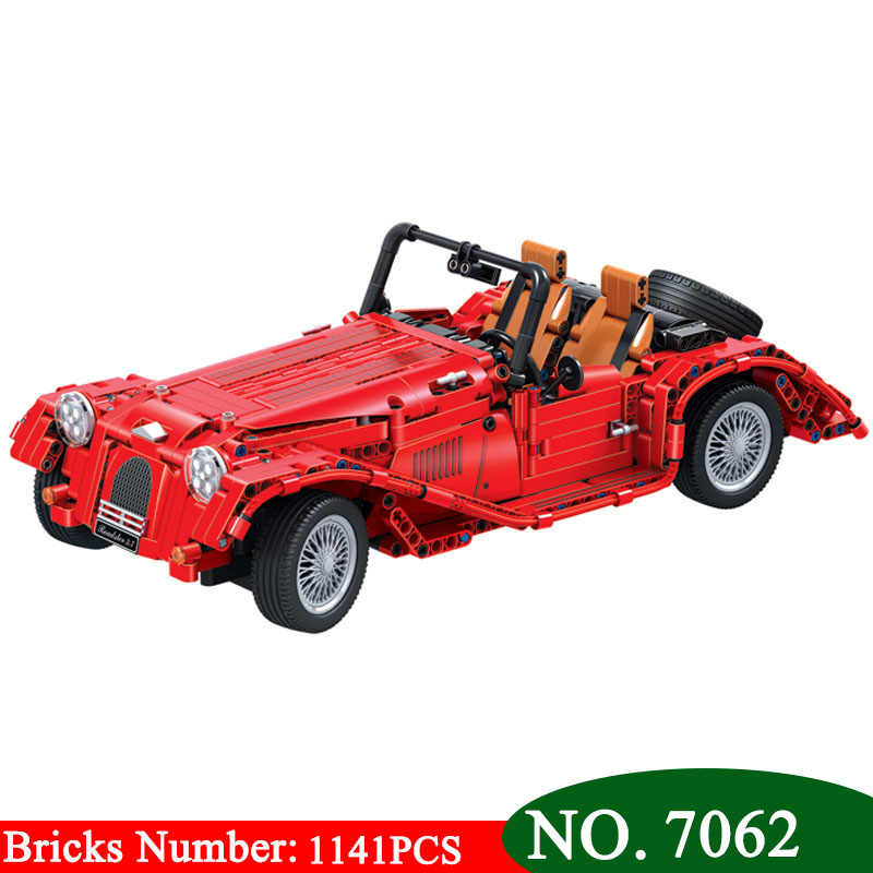 Pemenang 7062 1141 Pcs Technic Merah Persewaan Mobil Bangunan Blok DIY Batu Bata Pendidikan Mainan untuk Anak-anak Hadiah Natal