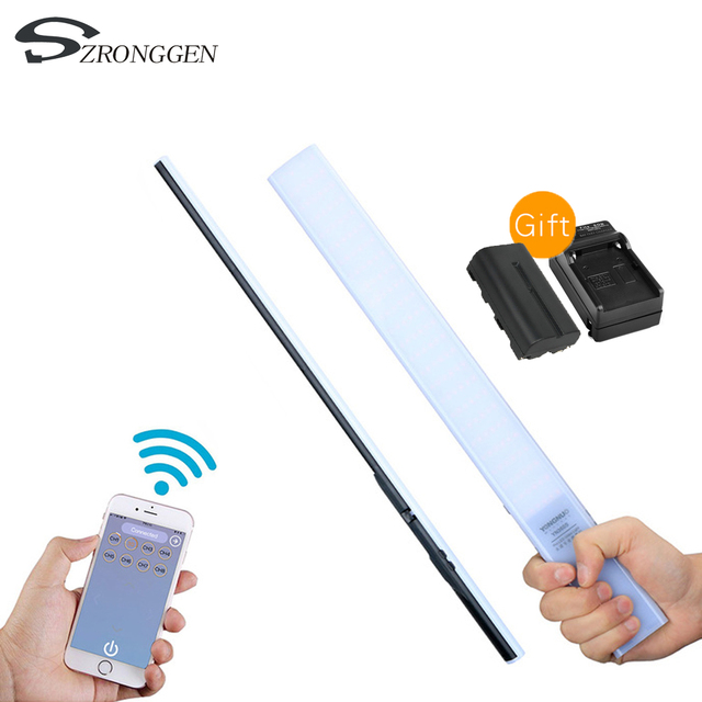 YONGNUO YN360S 5500K Handheld Ice Stick Makeup LED Video Light+NP F550 Battery Charger Photographyic Lamp Phone App Control