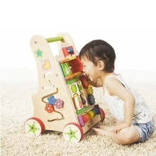 Fashion Solid Wood Baby Walkers Multi Functional Game Walker Lovely Design