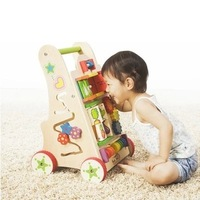 Fashion Solid Wood Baby Walkers, Multi Functional Game Walker, Lovely Design