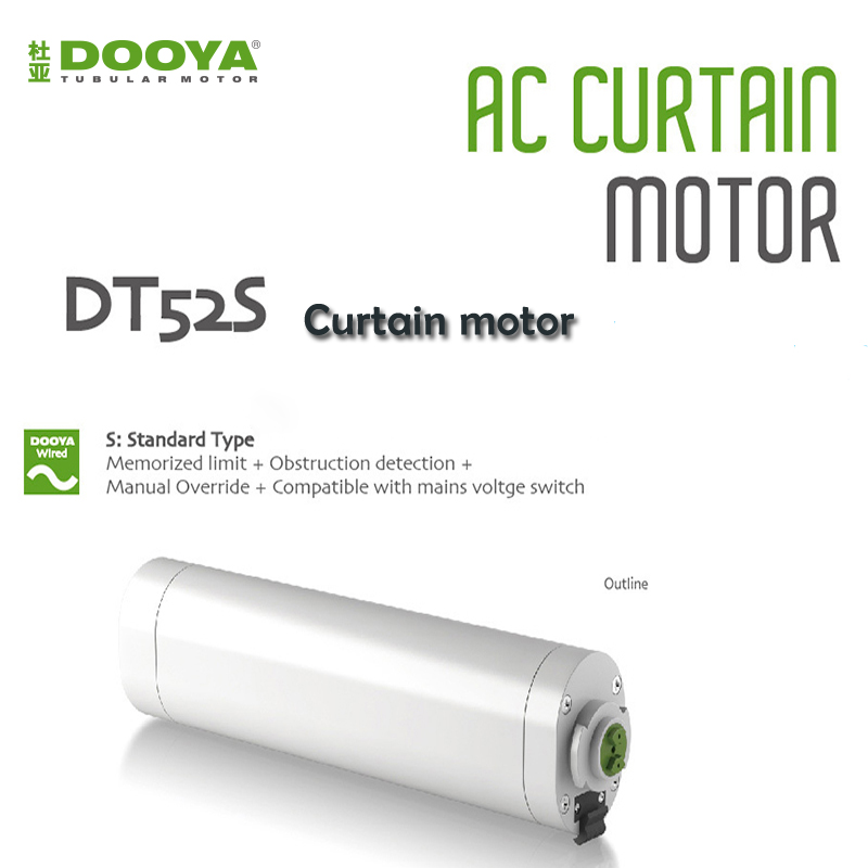 2017 Original Eruiklink Dooya Electric Curtain Motor DT52S 220v Curtain Track Motor, Automation Curtain Motor For Smart Home dooya dt52s electric curtain motor 220v open closing window curtain track motor smart home motorized 45w 75w curtain motor