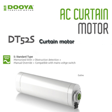 Dooya Electric Curtain Motor DT52S 220v Open and Closing Window Curtain Track Motor, Automation Curtain Motor For Smart Home dooya dt52s electric curtain motor 220v open closing window curtain track motor smart home motorized 45w 75w curtain motor