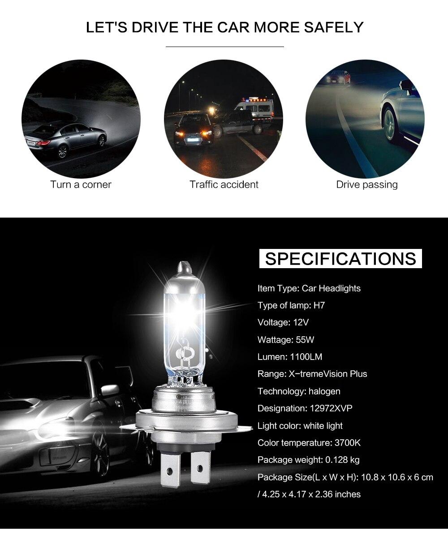 Philips H7 2pcs 110w 2200lm Car Headlights Bulb Kit Auto Front Light