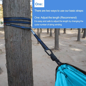 Image 3 - Camping Hammock With Hammock Tree Straps Portable Parachute Double Nylon Hammock For Backpacking Travel