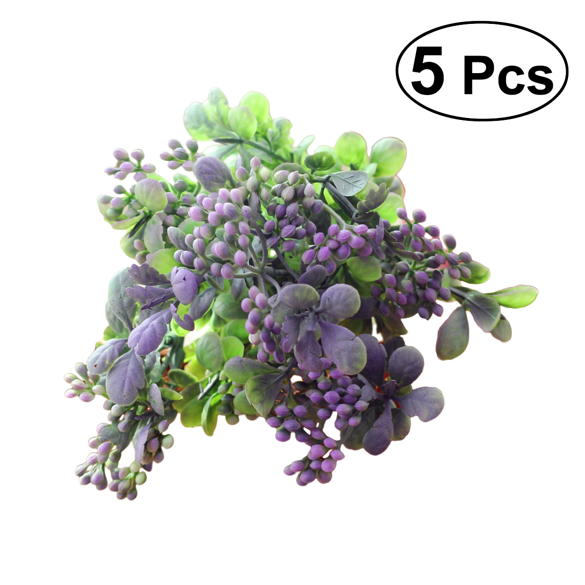 5pcs Artificial Lifelike Berries Fake Mini Berries Simulation Decorative Fruit Plants (Blue)