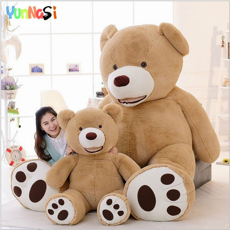 YunNasi 2m American Bear Giant Plush Toys For Children Valentine's Day Gifts For Girlfriend Big Teddy Bear Dolls Stuffed Pillow fancytrader big giant plush bear 160cm soft cotton stuffed teddy bears toys best gifts for children