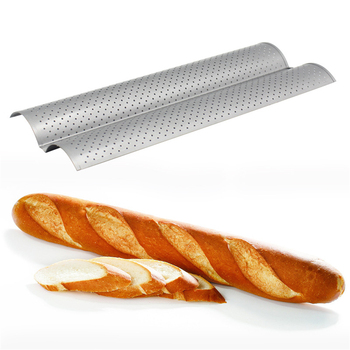 French Bread Baking Mold Bread Wave Baking Tray Practical Cake Baguette Mold Pans Groove Waves Bread Baking Tools