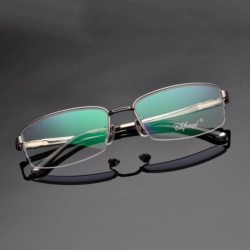 ad8f484088 Chlpond Luxury 100% Pure Titanium Half Rim Brand Eyeglasses Men Optical  Spectacle Frame Eye Prescription Glasses Oculos 8843-in Prescription Glasses  from ...