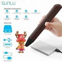 SUNLU 3D печать Ручка Поддержка 1,75 мм PCL/PLA нити SL-600 3D печать ручки как лучший подарок на день рождения для детей и взрослых