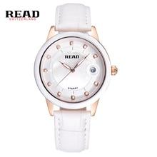 LEER Señoras Del Reloj Caja de Reloj de moda correa de reloj de cuarzo de cerámica R2014