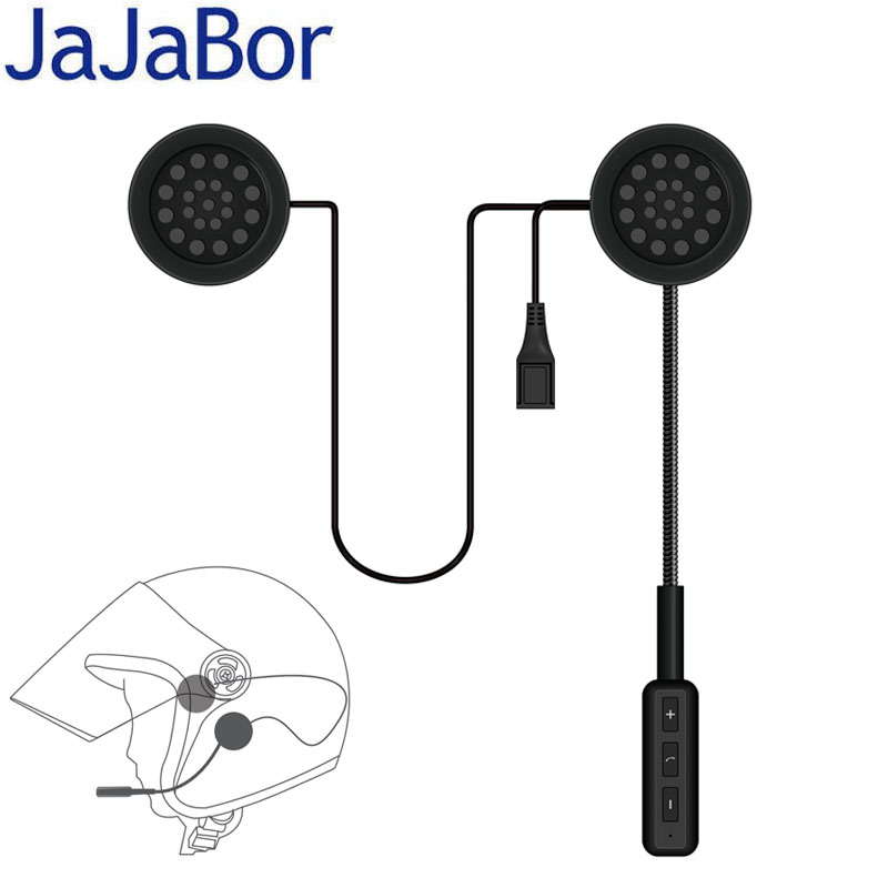 JaJaBor Motor Wireless Bluetooth Headset Motorcycle Helmet Earphone Headphone Speaker Handsfree Music For MP3 MP4 Smartphone(China)