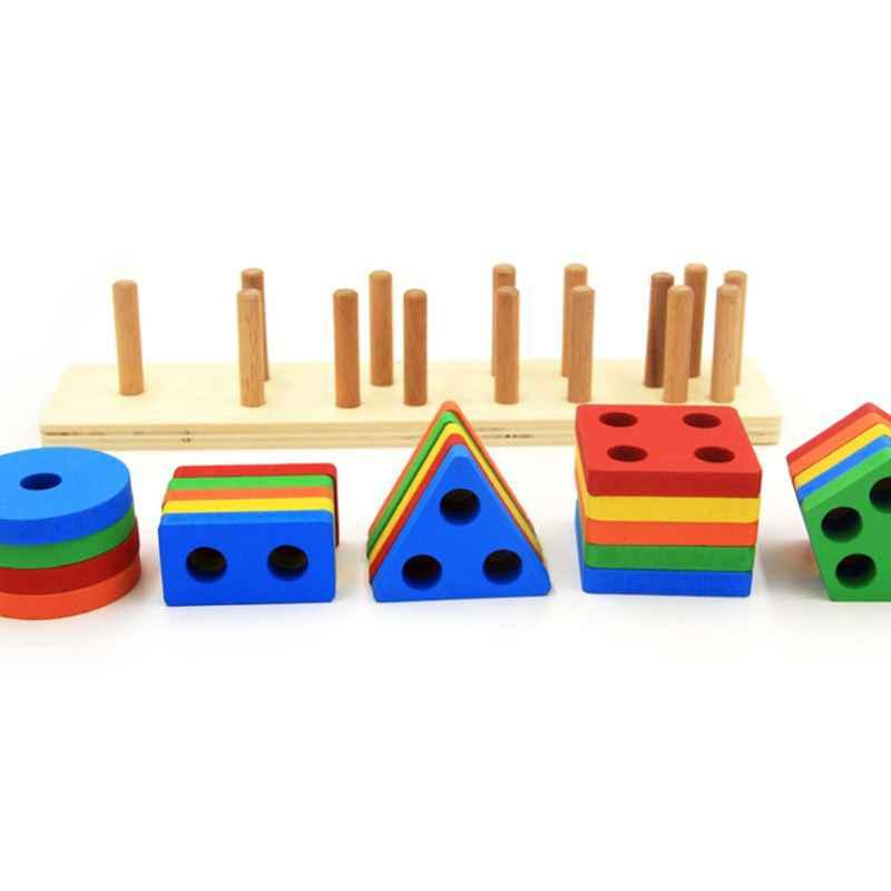 木製教育形状色認識幾何ボードブロックスタックソート分厚いパズルおもちゃ、誕生日プレゼントのおもちゃ年齢 3 4 5
