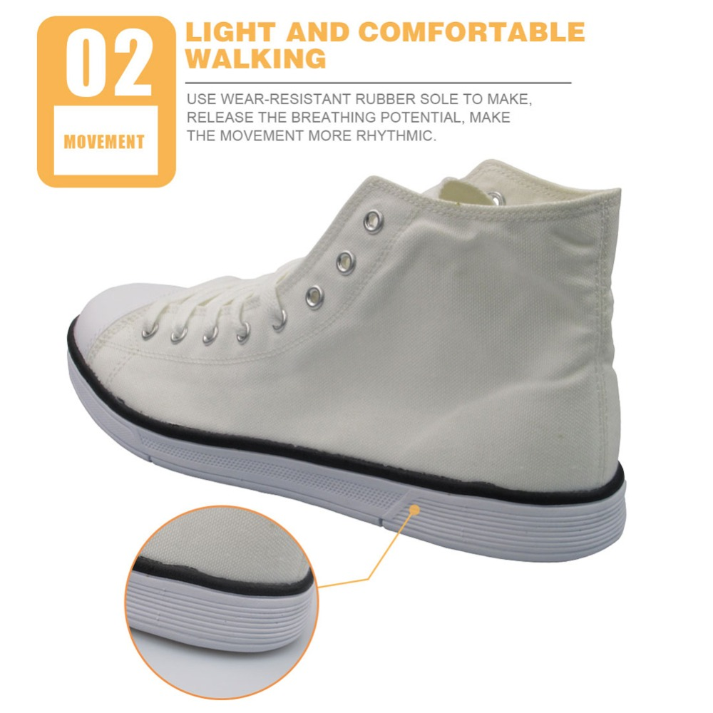Twoheartsgirl Cool Dentist Pattern High Top Zapatos de lona Sneakers - Zapatos de mujer - foto 3