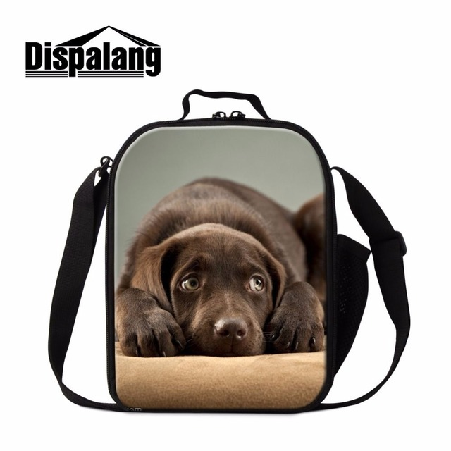Dispalang pet dog bulldog prints lunch bag for kids cooler insulated lunch box men food thermal bag reusable lunch containers