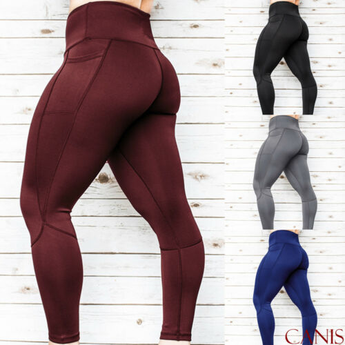 Women High Waist Gym Pants Full Length Solid Fitness Sport Exercise Running Bottom   Leggings   Casualg Bottom   Leggings   Trousers