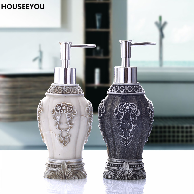 New Vintage Resin Art Craft Of Hand Soap Dispenser Black