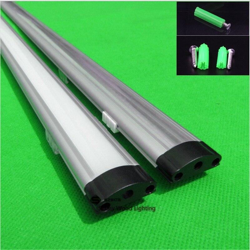 10-30 pcs 80 pouces 2 m profil en aluminium pour led bande, laiteux/transparent couverture pour 12mm 5050 5630 5730 dur bande LED bar lumière