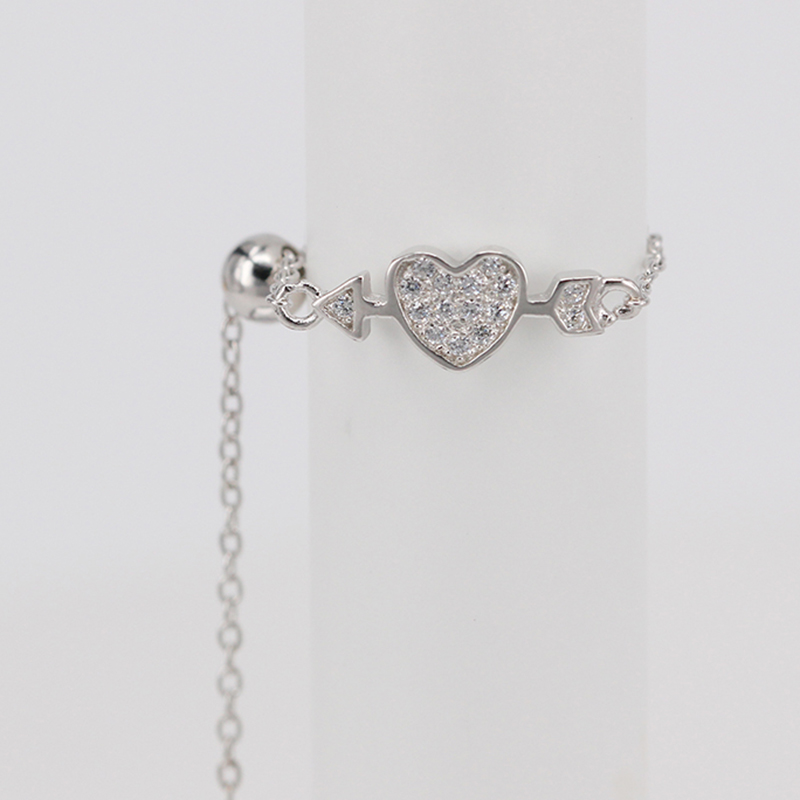 2016 New Women's 925 Sterling Silver Cupid's Arrow Heart Ring jewelry Women wedding rings Fine Jewelry